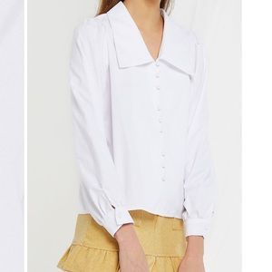 NWOT Storets - Angelica Large Collar Blouse